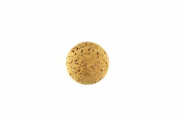 Esfera para decoração em cortiça, com 10 cm de diâmetro