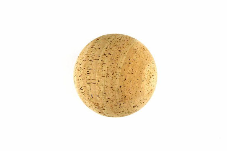 Esfera para decoração em cortiça com 15 cm de diâmetro